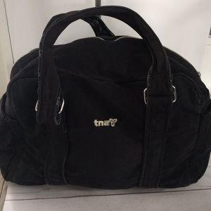 👠👠TNA black canvas handbag